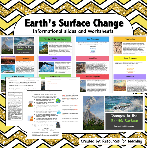 Changes to the Earth's Surface