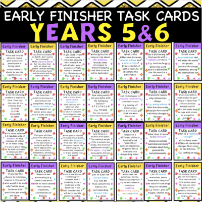 Early Finishers Task Cards 3