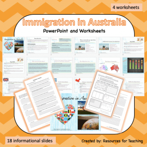 Australian Immigration Slides and Worksheets