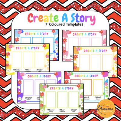Create A Story Templates and Prompt Cards
