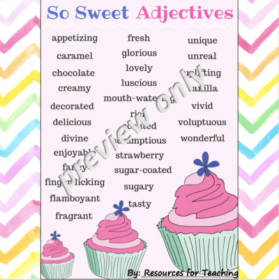 6 Adjective Posters