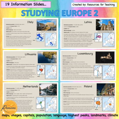 Studying Europe: Countries from I - Z (Part 2)