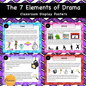 Elements of Drama Display Posters
