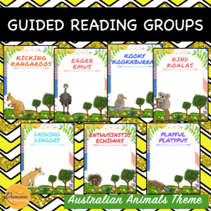 Australian Native Animals Reading Groups