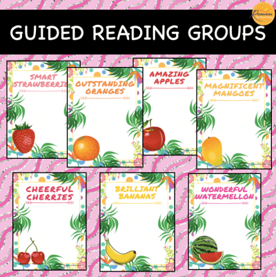 Fruit Theme Reading Groups